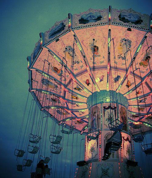 http://meriamber.tumblr.com/ chair rides festival fair lights night flying