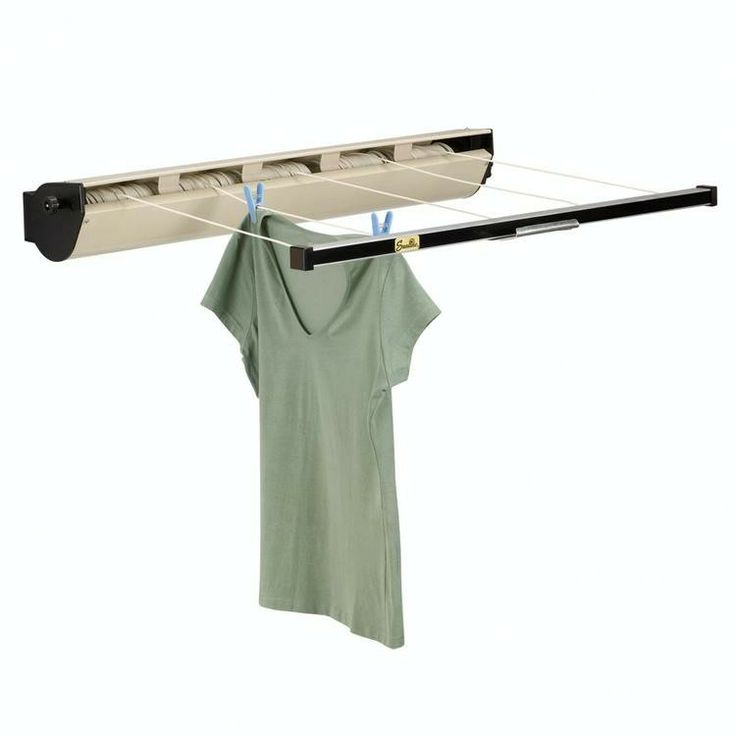 retractable wall mounted clothes drying rack
