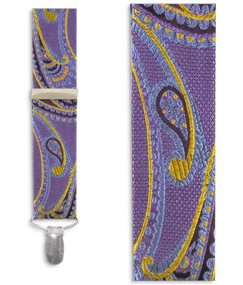 Cameron Paisley - Lavender (Suspenders - Clip) | Ties, Bow Ties, and Pocket Squares | The Tie Bar