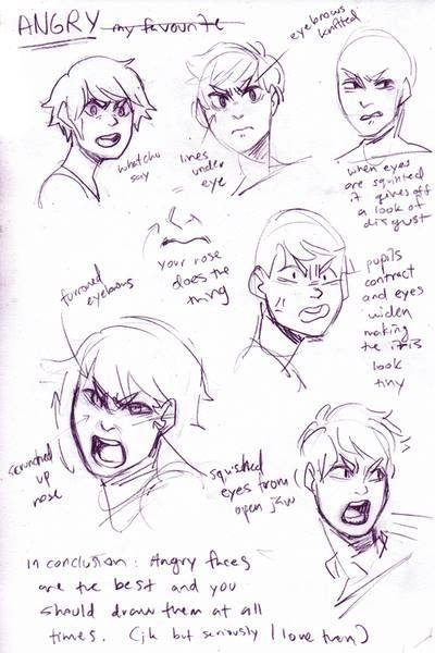 Angry Expressions - I didn't know there could be so many different types of angry faces.