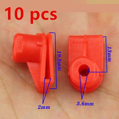 10x Red for Opel Vauxhall Bumper to Wing Mounting Plastic Grommet Nut for Screws