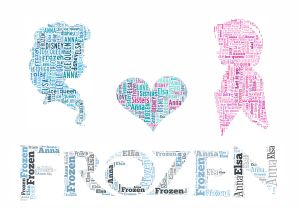 Free elsa and anna Frozen wordart print | Self Print It