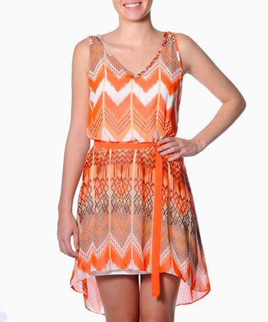 Take a look at this Smash: Orange Zig Zag Dress by Smash on #zulily today!