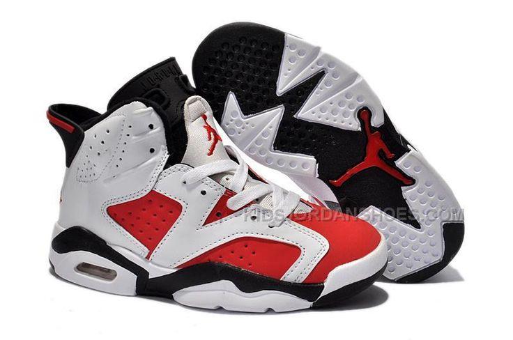 Nike Air Jordan 6 Blancs / Fac Phat Rouge-noir