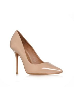 Kurt Geiger Ellen patent court shoes Nude - House of Fraser