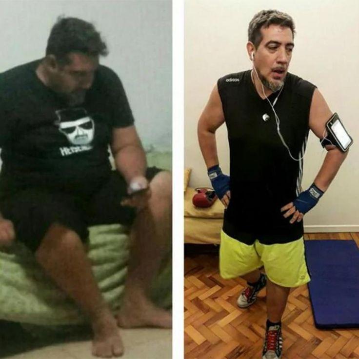 El conductor participó de 'Cuestión de peso' y luego continuó con una rutina de dieta y ejercicios.