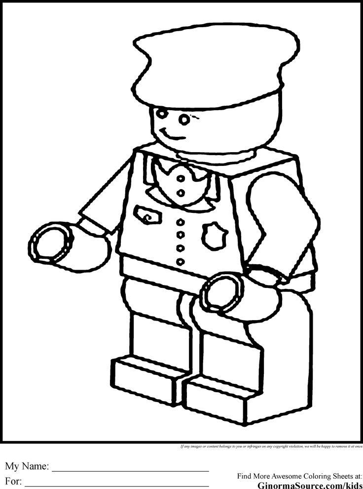 Lego Coloring Pages Train Engineer