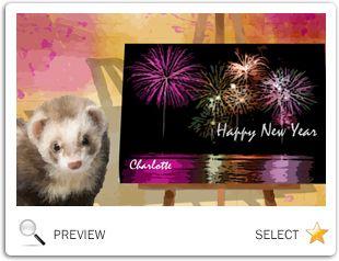 New Year's Art pet ecard