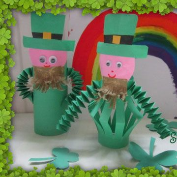 Click pic for 50 St Patricks Day Crafts for Kids - Toilet Roll Holder Leprechauns | Easy Crafts for Kids