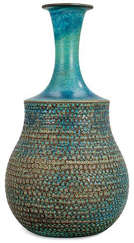 Stig Lindberg. - lovely pot - reminiscent of so many different shapes and uses  - guess one? !
