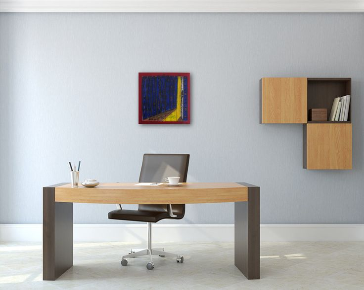 Bildvorschau: Nr. 660 Aufbruchstimmung (2013) von Manuel Süess im Büro #Malerei #Painting #AbstractArt http://art-by-manuel.com