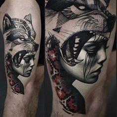 Leg tattoo by @timur_lysenko /// #⃣#Equilattera #tattoo #tattoos #tat #tatuaje #tattooed #tattooartist #tattooart #tattoolife #tattooflash #tattoodesign #tattooist #best #bestoftheday #original #miami #mia #creative #awesome #love #ink #art #design #artist #pattern #linework #color #portrait #wolf Posted by @WazLottus