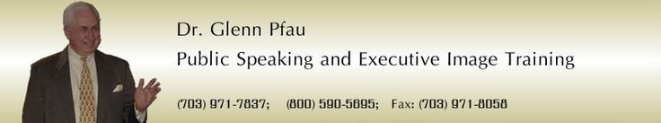 Dr. Pfau Public Speaking and Executive Image Training