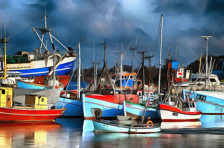 Fisherboats in Gilleleje