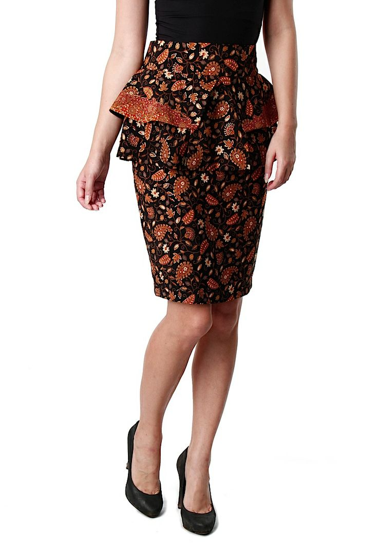 Working Hours Borobudur Batik Black Skirt