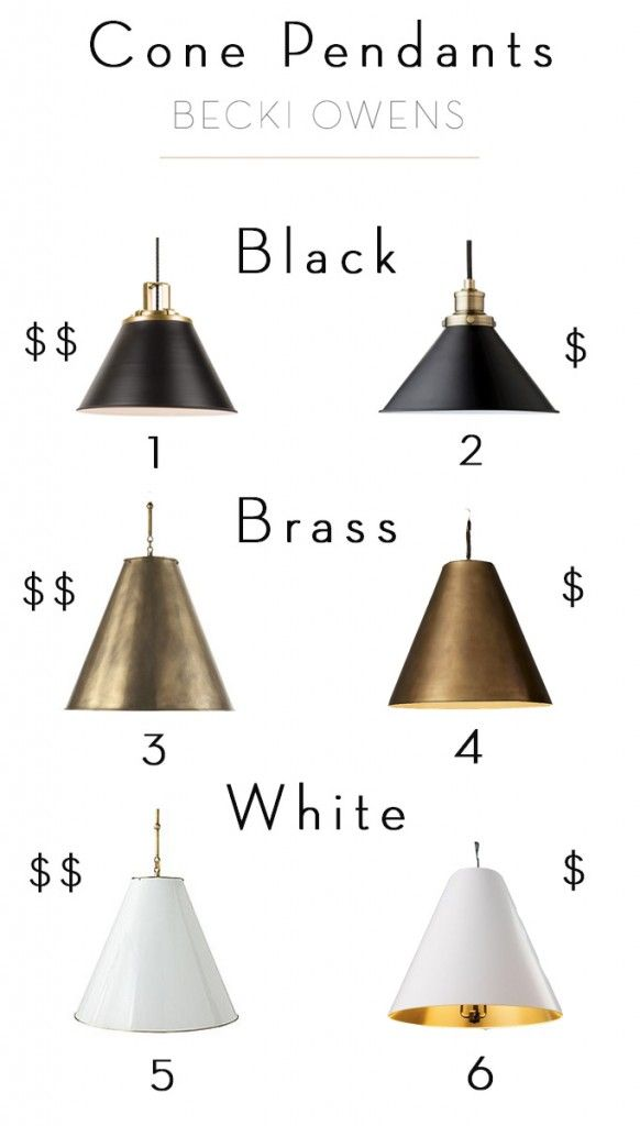 Clean, crisp, modern, fresh...cone pendants have all the elements of lighting…