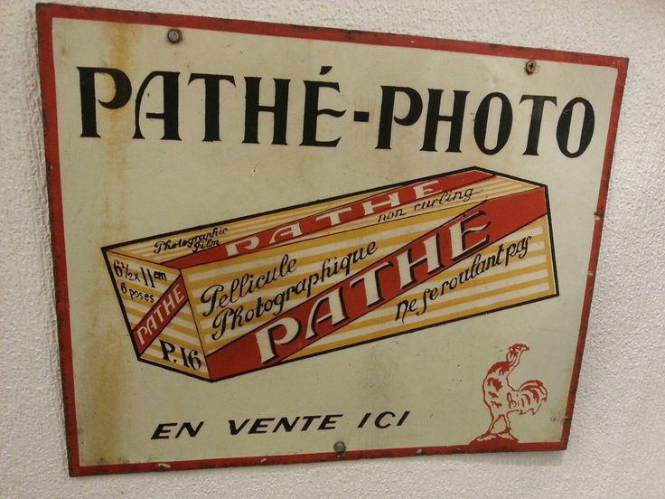 Vintage film advertising sign