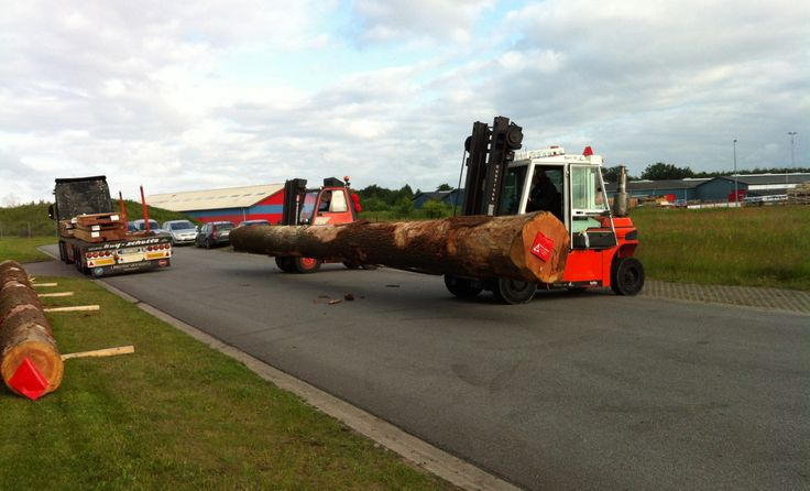 Delivery of three 15 meters long logs