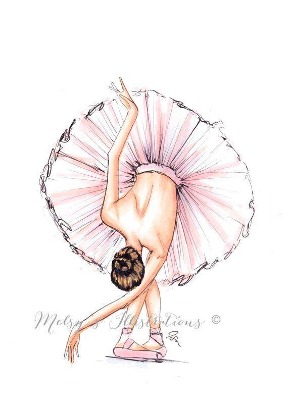 The Ballerina (Fashion Illustration Print) (Fashion Illustration Art – Fashion Sketch prints – Home Decor – Wall Decor )