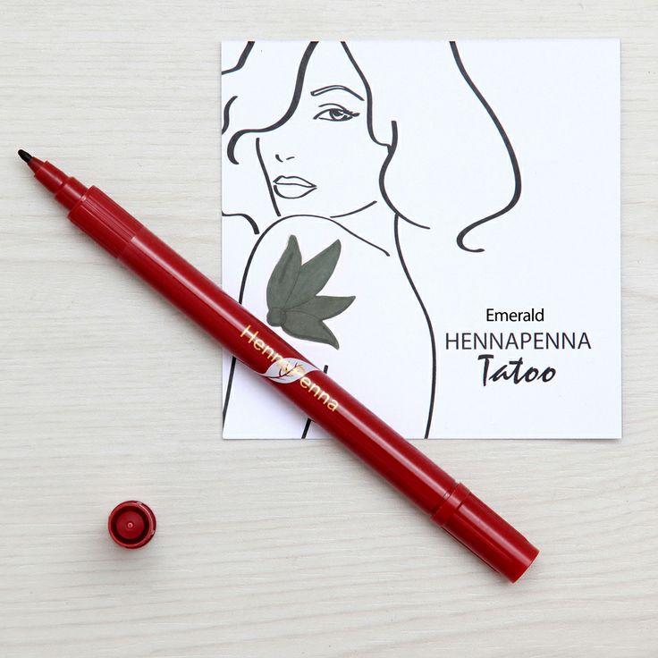 Henna Penna Tatuaggio Emerald http://suntastic.it/henna-penna/henna-tatuaggio