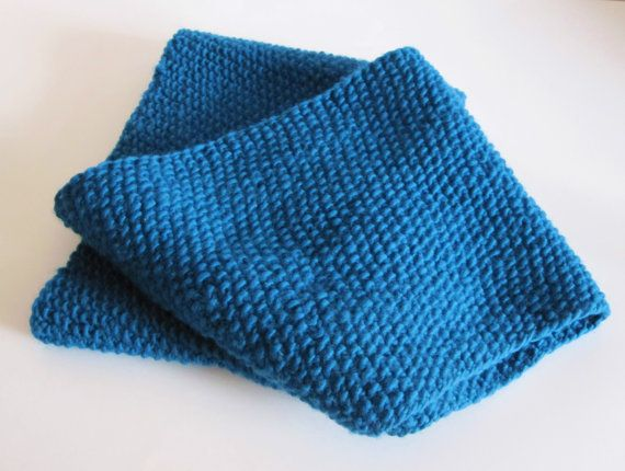 Blue handmade extra long infinity scarf hat and by HimawariLand, €165.00