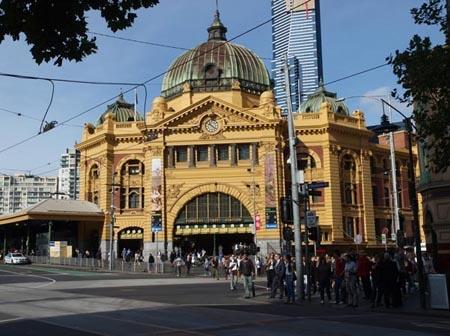 Flinders Street Station, Melbourne, Australia.
