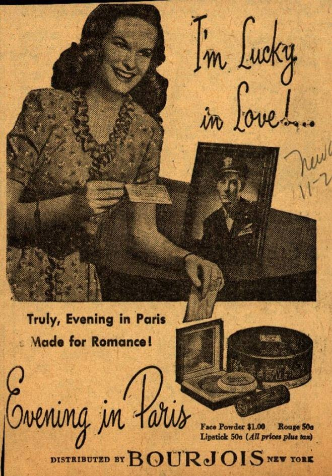 Bourjois Evening in Paris / USA1943