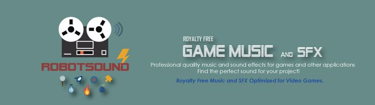 Here at Robotsound, we specialize in making professional quality music and sound FX for games and other applications -- royalty free game music --- http://www.robotsound.net/