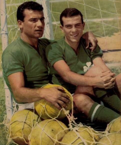 "Kostas Linoxilakis (centre back of Panathinaikos from 1950 when he was only 17 years old until the 1962-1963) e  Mimis Domazos ((central attacking midfielder) His nickname was ""The General"". Mimis Domazos is considered by many to be one of the best footballers that Greece has ever produced. He was Panathinaikos FC team captain for over 15 years. When he retired from playing, in 1980, Domazos was declared the longest-active footballer in the history of Greek football (21 years)."