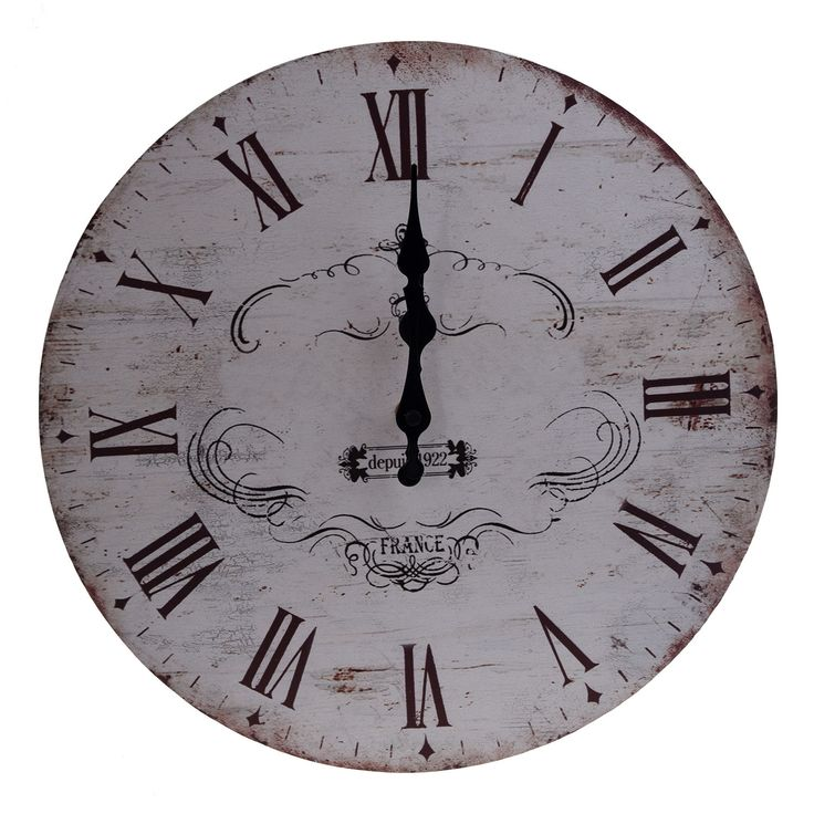 "13"" Chic Vintage Retro Crown Pattern Wooden Wall Clock Art Home Decor Dt"