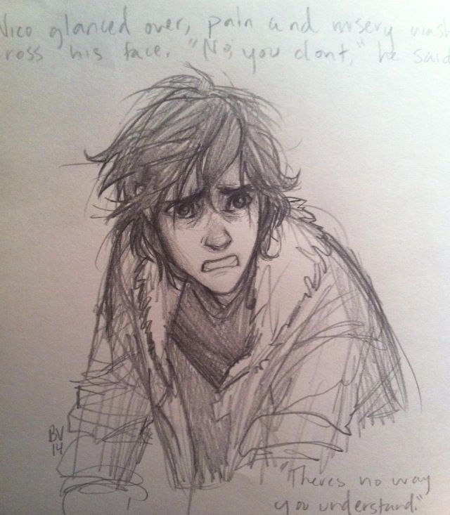 Nico Di Angelo this is such a good drawing and u can FEEL The emotion.