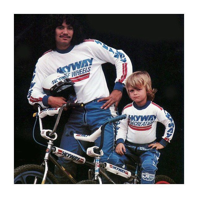 To us the 80s were synonymous with BMX. Brands like Diamond Back PK Ripper and Skyway ruled the streets (and magazines) of the UK as well as the USA. The loose Skyways Recreation racing jerseys bring back nostalgic feelings of admiration and envy for us at The Ride Journal. After making everything from aerospace and motrorcross parts (and parts for new Disneyland attractions) Skyway went on to to develop (in 1974) the colourful nylon Tuff Wheels that changed BMX style forever. The…