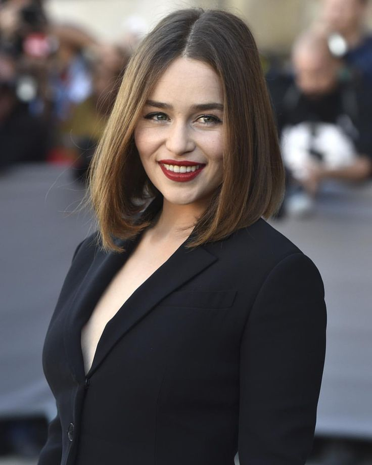 """Hollywood Reporter on Instagram: """"British actress Emilia Clarke stunned at Christian Dior's Spring-Summer #PFW show today. Who's ready for season six of #GameOfThrones? (Photo: @InvisionAgency)"""""""