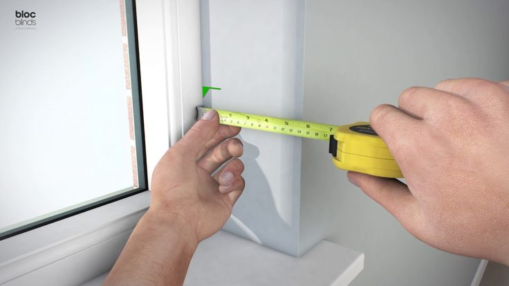How to measure for a BlocOut XL Blind fitted into the recess