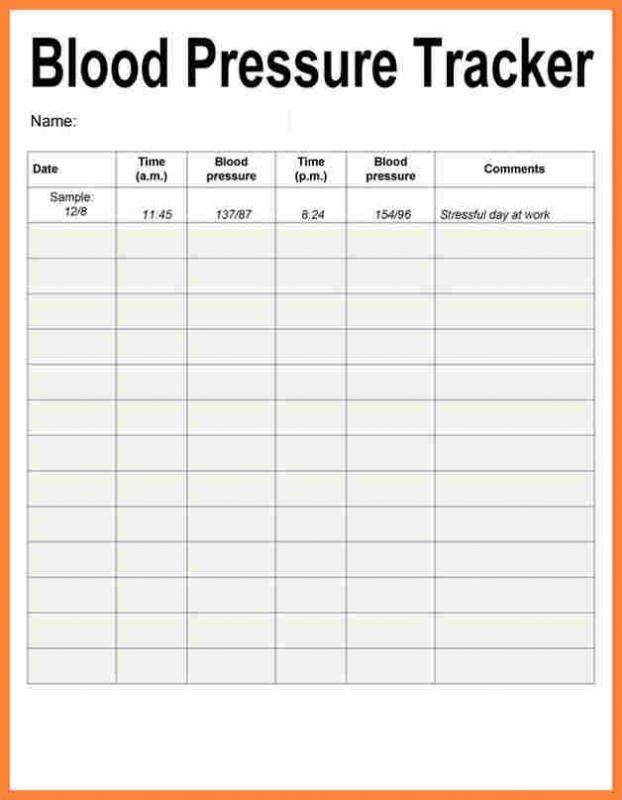 blood sugar recording chart