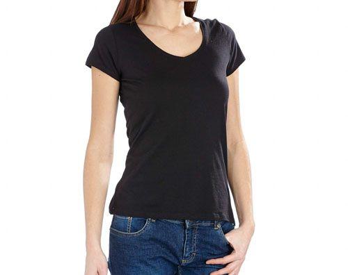Patrón de camiseta.                         http://patronesmujer.com/camiseta-basica-con-manga-diy/  shirt blouse blusa tutorial pattern patrón free gratis