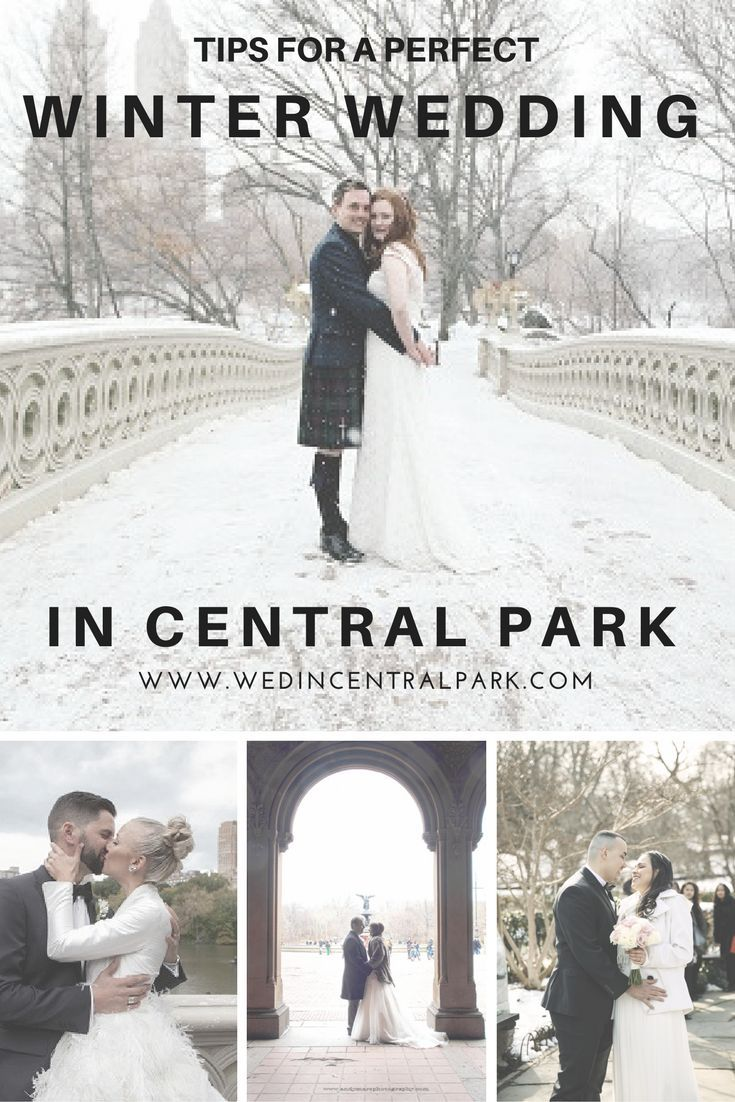 Tips for a Winter Wedding in Central Park