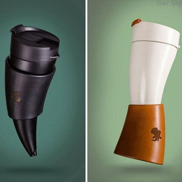 Star Sky Goat Mugs Goat Horns Stainless Steel Thermos Mug Coffee Cup Insulation Vacuum Thermos 230ml Couple Mugs Stainless Steel Thermos Couple Mugs Coffee Thermos
