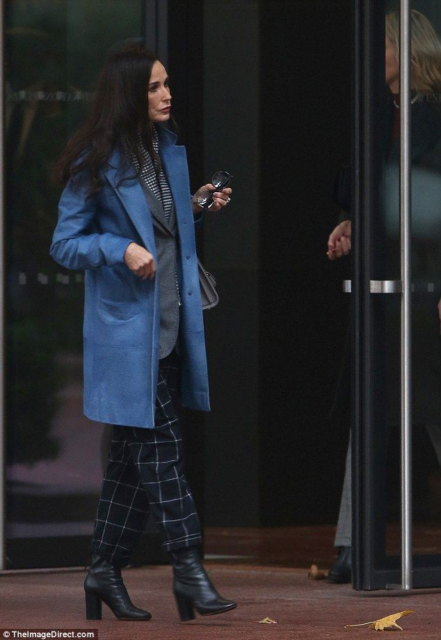 Stand-out star: The actress filmed a scene that had her walking away from a building ...