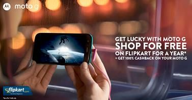Buy a Moto G and you could win 1 lakh worth of free shopping on Flipkart! To add, 100 lucky customers will get a 100% cashback on their Moto G purchases! Visit http://bit.ly/1geFu3m