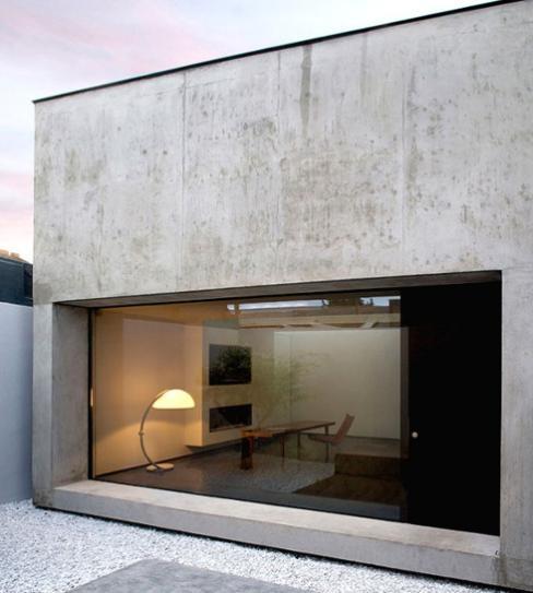 room with beton mixture