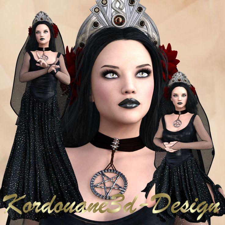Roxane : Tube de femme gothique classique