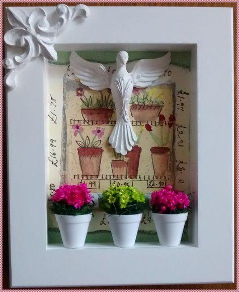 Quadrinho Divino Espirito Santo Flowers