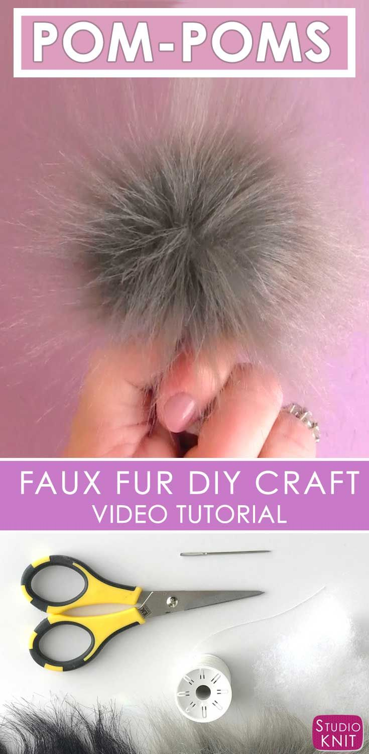 I'm learning how easy and affordable it is to make my own Faux Fur Pom-Poms with Studio Knit #StudioKnit #pompom #diycraftidea #fauxfur via @StudioKnit