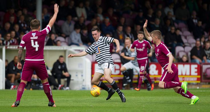 Queen's Park's Thomas Orr in action during the SPFL League One game between Arbroath and Queen's Park