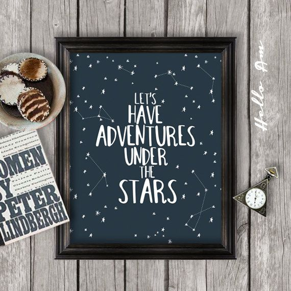 Inspirational quote, inspirational poster, life quotes, wall art, typography, quotes for children, calligraphy, stars JPEG -INSTANT DOWNLOAD...