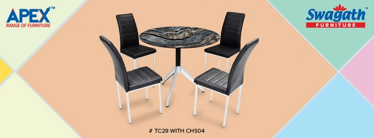 Get the exclusive #TC29 dining #table with CHS04 #chairs for your home from Swagath's APEX range of #furniture!!