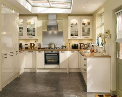 Burford Gloss Cream - Burford - Kitchen Families - Kitchen Collection - Howdens Joinery  Skylight, window and door layout