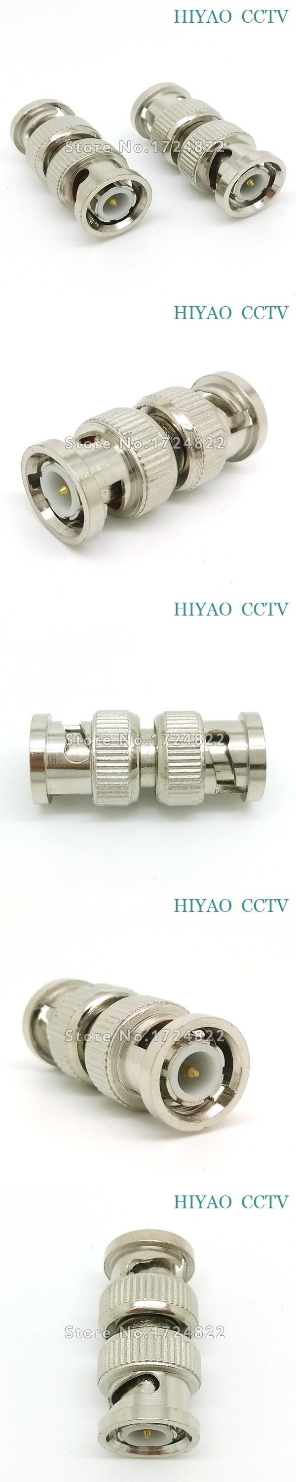 10pcs Splitter Plug Adapter BNC Connector male to BNC male Coupler for CCTV RG59 cable Security System & Video Camera