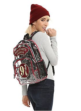 Be in the clear this Back To School // Harry Potter Clear 9-3/4-Hogwarts Express Backpack
